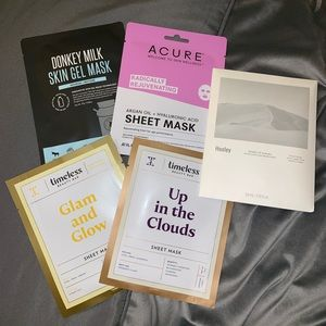 Timeless Makeup - 🆕 Set of 5 Assorted Face Sheet Masks